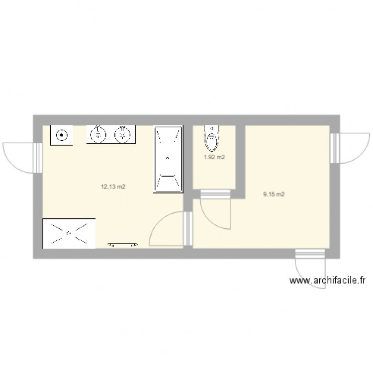 Salle De Bain Plan 3 Pi Ces 23 M2 Dessin Par Tim7025