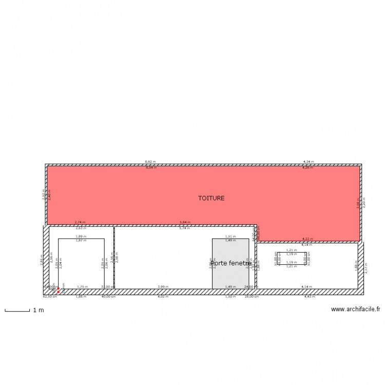 plan facade avec baie vitree plan 5 pi ces 57 m2 dessin par slaide57. Black Bedroom Furniture Sets. Home Design Ideas