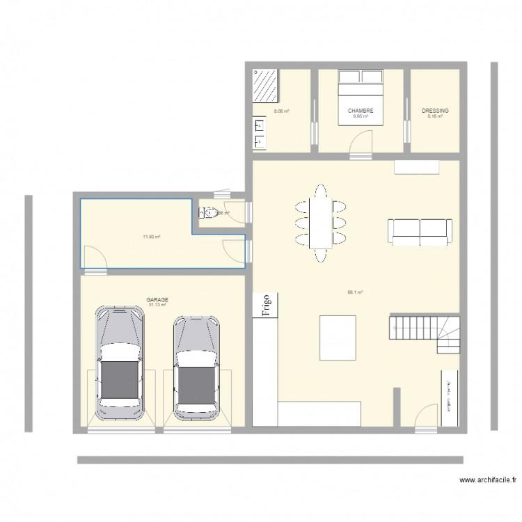 plan de maison terrain en longueur