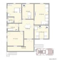 Plan maison et appartement de 9 pi ces de 120 140 m2 for Plan maison 140m2