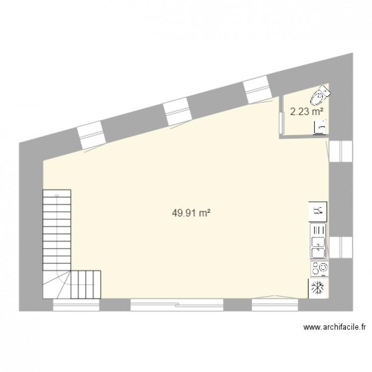 Ecurie1er1 Plan 2 Pi Ces 52 M2 Dessin Par S07340