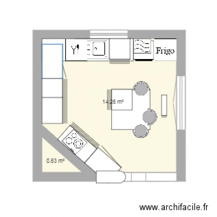 cuisine avec fenetre ald porte fenetre plan 2 pi ces 15 m2 dessin par luciecroissant. Black Bedroom Furniture Sets. Home Design Ideas
