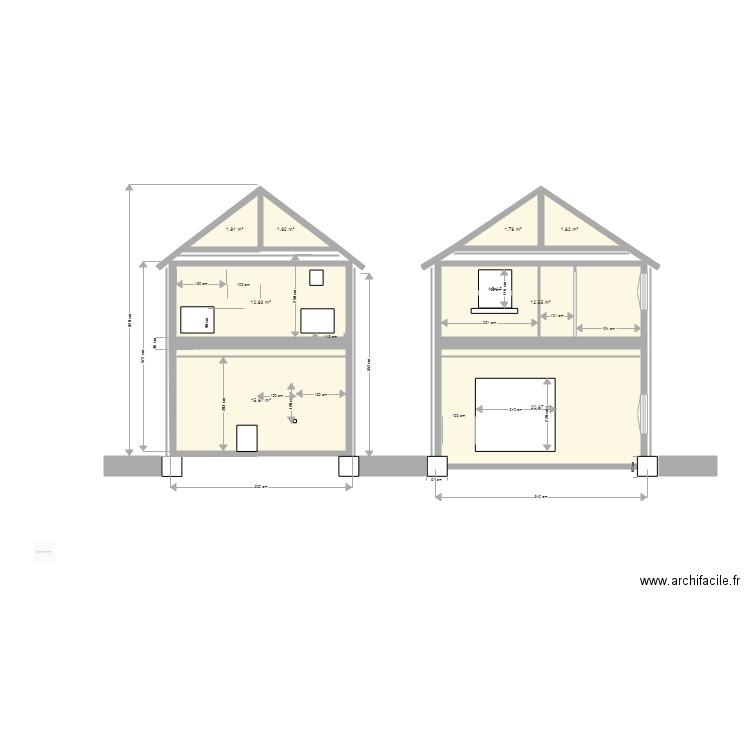 Plan Coupe Maison: Plan 8 Pièces 67 M2 Dessiné Par