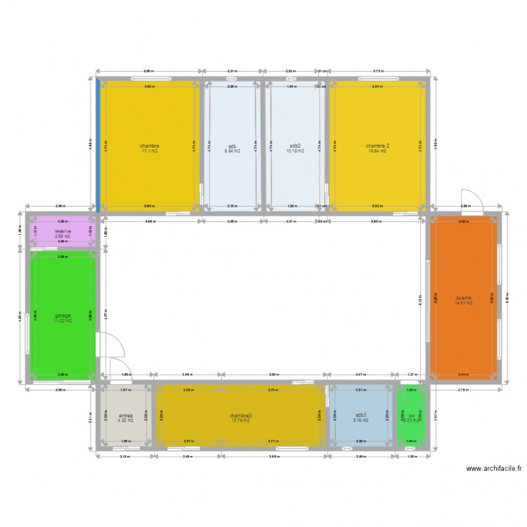 Maison container 12 plan 11 pi ces 108 m2 dessin par for Maison container 50 m2