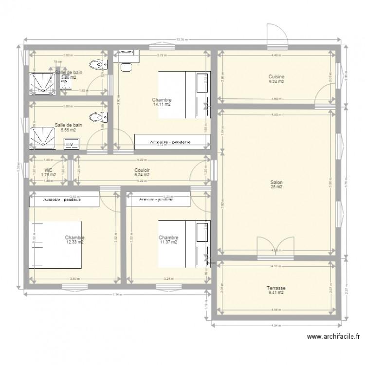 78 Beau Plan Maison Plein Pied Plan Maison