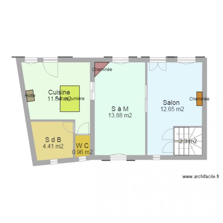 Canteleu 07 plan 6 pi ces 46 m2 dessin par rogeville for Canteleu piscine