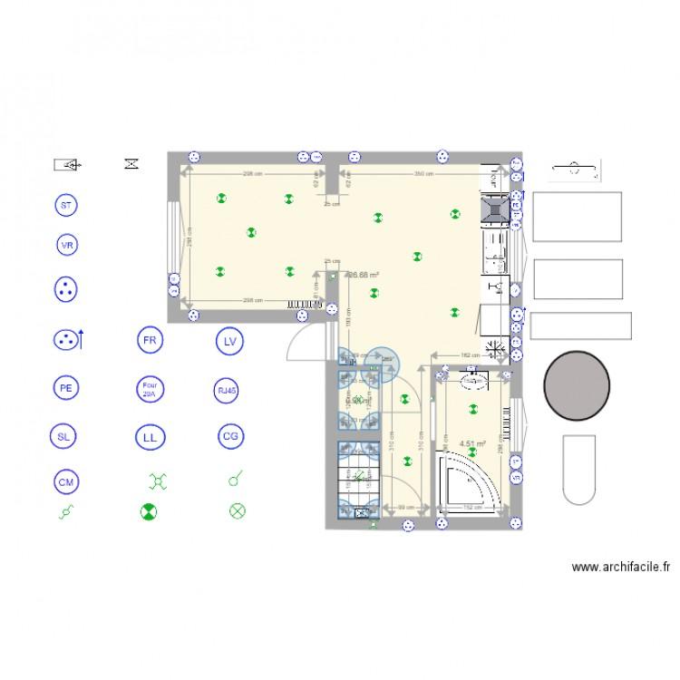 maison franconville suite plan 4 pi ces 33 m2 dessin par cheffilou. Black Bedroom Furniture Sets. Home Design Ideas