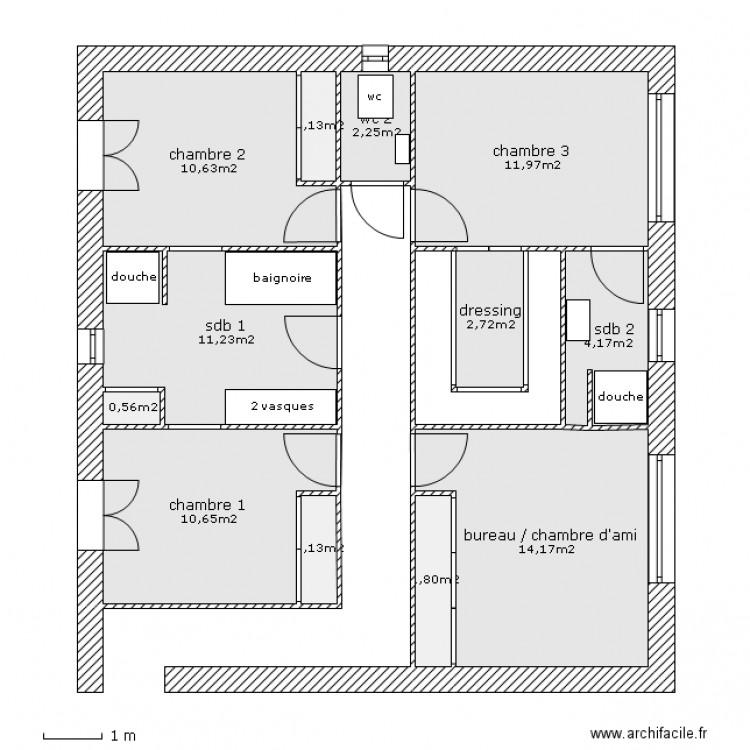 Plan appartement 77 m2 - Logiciel plan appartement ...