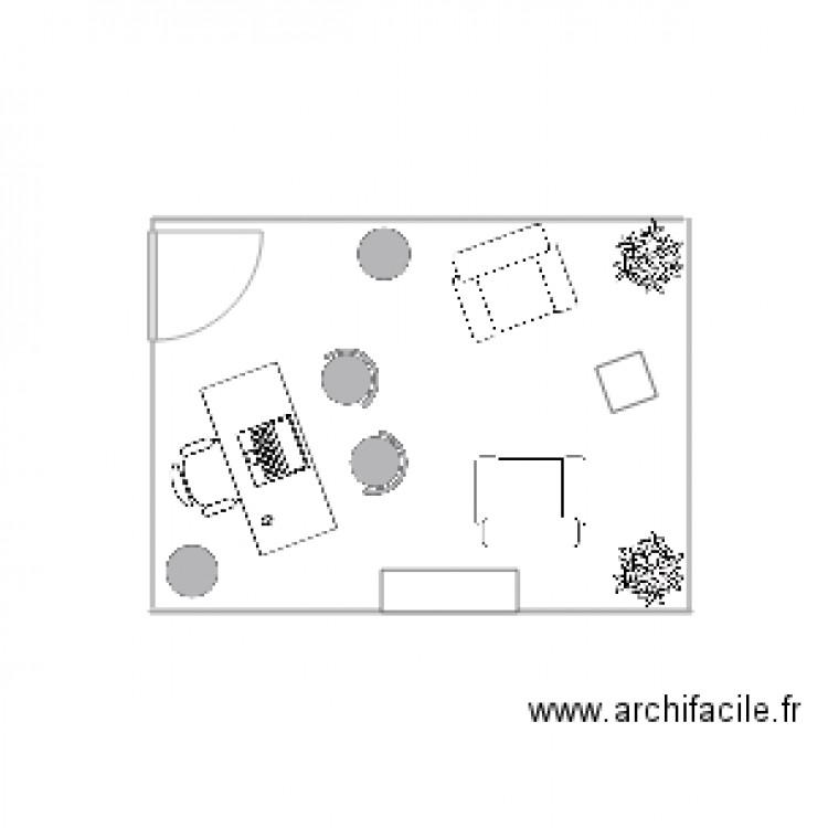 Bureau 2 plan dessin par izloe for Nombre de m2 par personne bureau