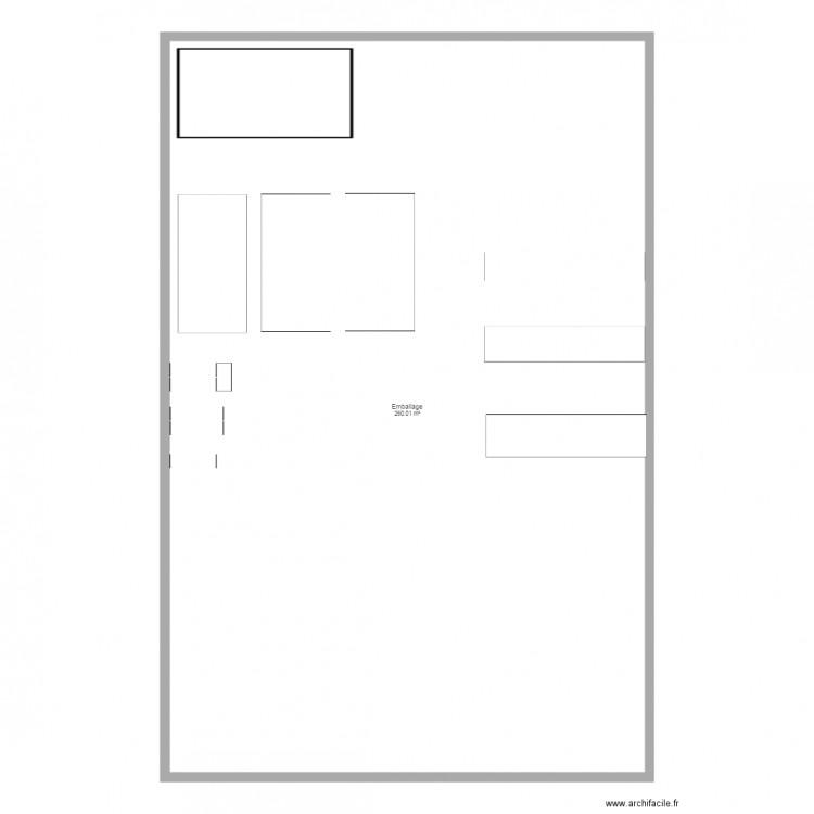 emballage 2d plan 1 pi ce 260 m2 dessin par julien1059. Black Bedroom Furniture Sets. Home Design Ideas