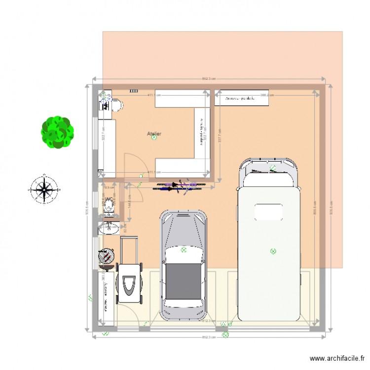 garage op2 am nag 2 plan 4 pi ces 82 m2 dessin par ollive. Black Bedroom Furniture Sets. Home Design Ideas