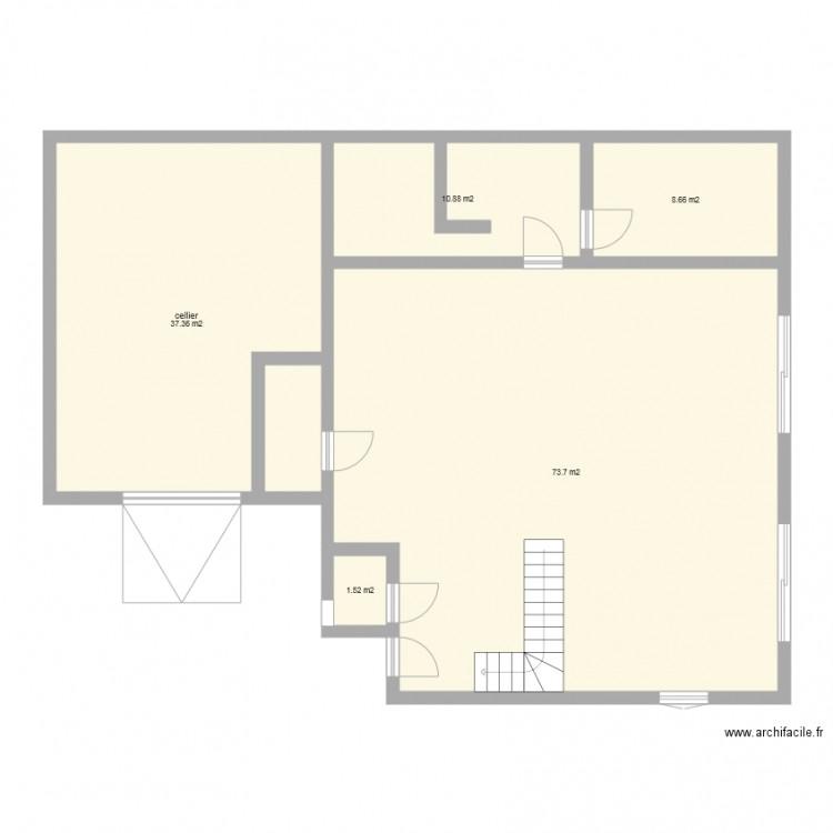 Plan maison cubique plan 5 pi ces 132 m2 dessin par guerlio for Plan maison cubique 150 m2