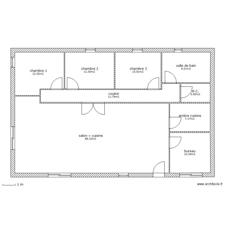 Plan maison plain pied 130 m2 maison familiale 9 moorea for Budget construction maison 130 m2