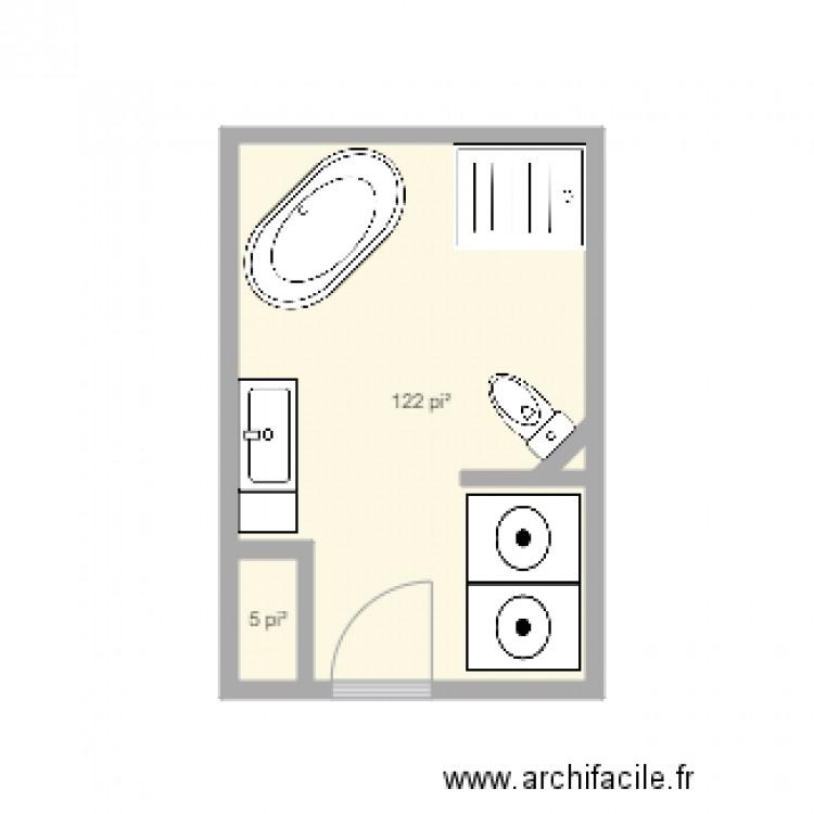 toilette agrandie plan 2 pi ces 12 m2 dessin par legaultg. Black Bedroom Furniture Sets. Home Design Ideas