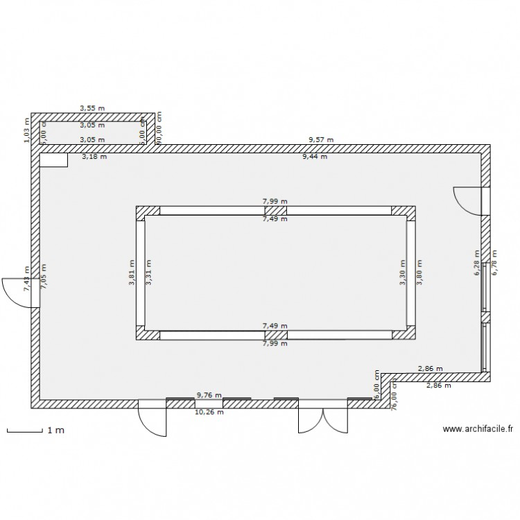 Plan rdc patio plan 3 pi ces 114 m2 dessin par elodie for Dessiner plan patio