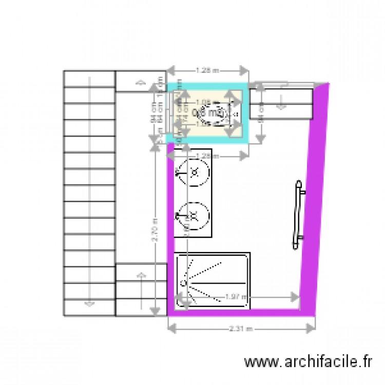 Wc sdb plan 1 pi ce 1 m2 dessin par de nys - Wc petite taille ...