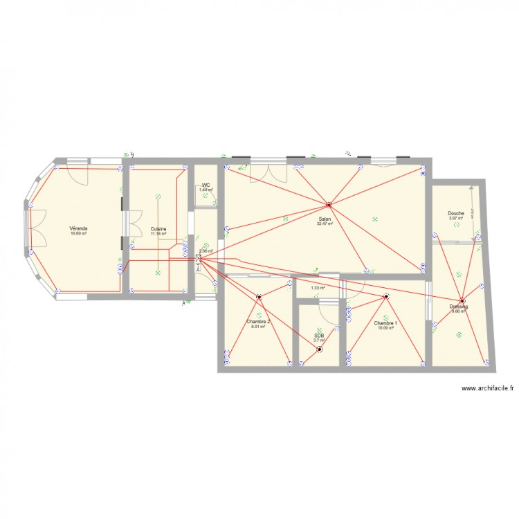 sch ma lectrique plan 11 pi ces 102 m2 dessin par johannkatia. Black Bedroom Furniture Sets. Home Design Ideas