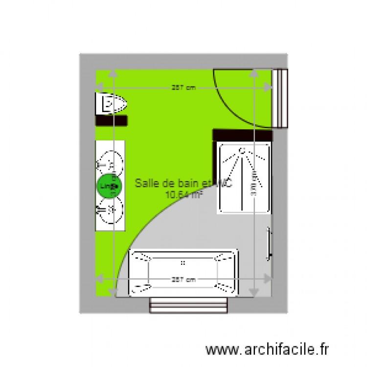 Salle De Bain Plan 1 Pi Ce 11 M2 Dessin Par Cha167