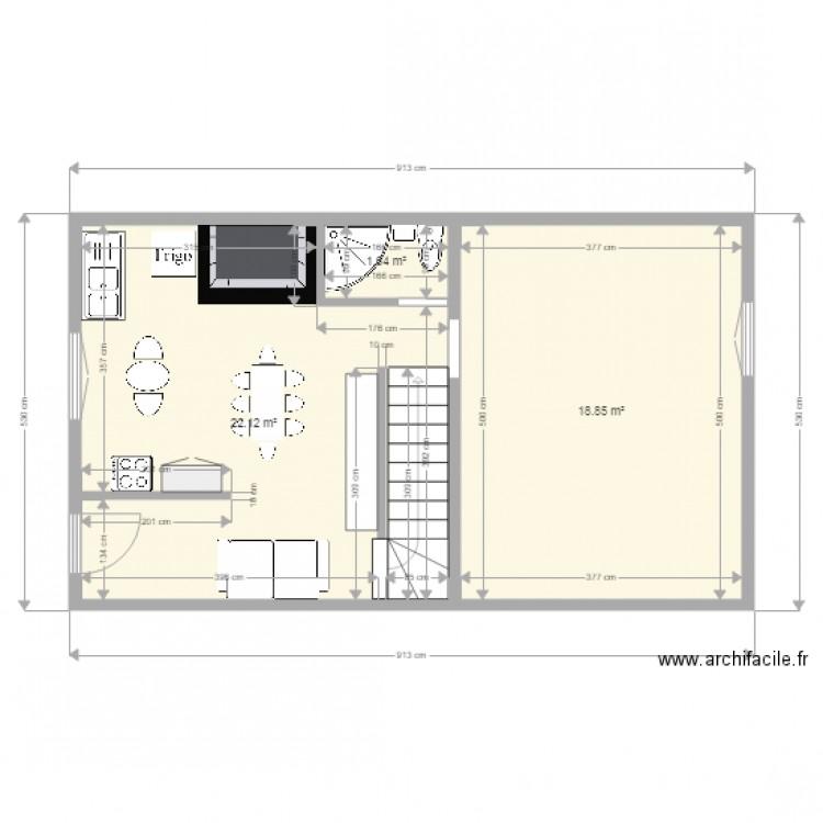 Plan De Masse Plan 3 Pi Ces 43 M2 Dessin Par Servotte