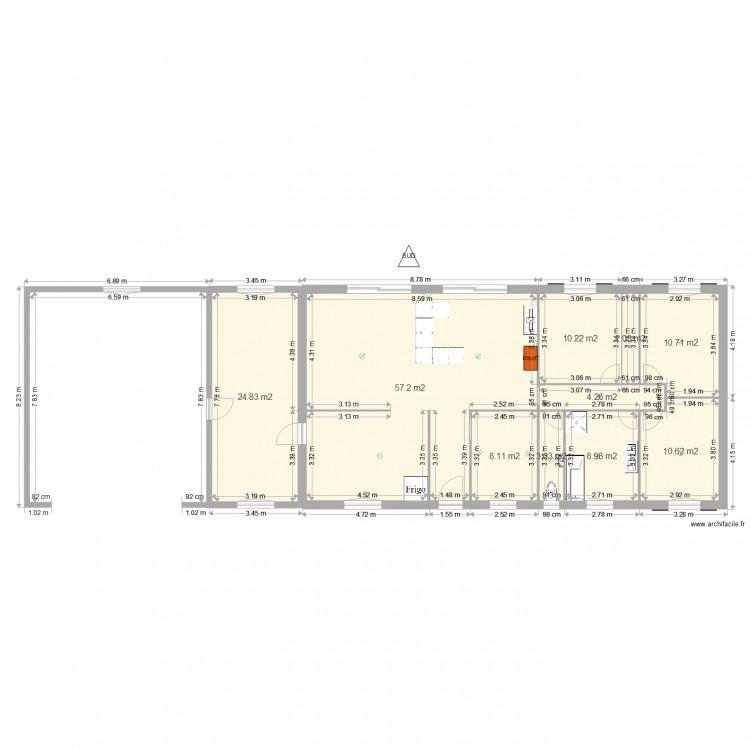 Maison 06042016 plan 10 pi ces 140 m2 dessin par bebiert for Plan maison 140m2