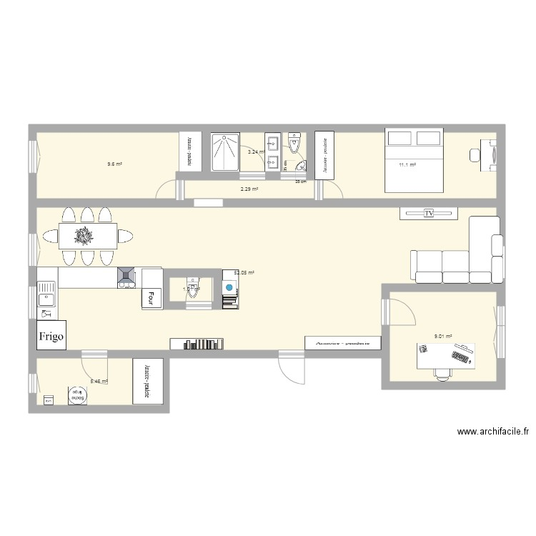 plan appartement 96m2