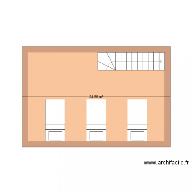 Chambre plan 1 pi ce 25 m2 dessin par nosolla for Chambre one piece