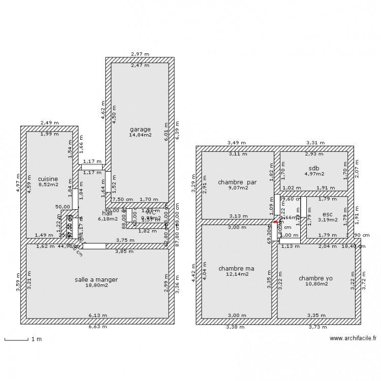 maison individuelle 75m2 plan 12 pi ces 91 m2 dessin