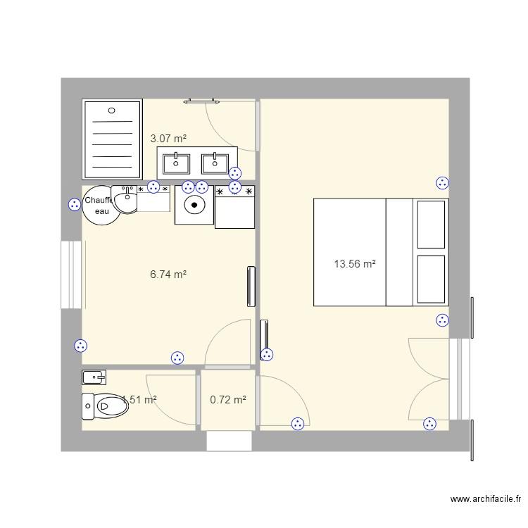 am nagement garage plan 5 pi ces 26 m2 dessin par paraglider69. Black Bedroom Furniture Sets. Home Design Ideas