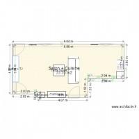 Plan maison et appartement de 20 50 m2 for Plan extension maison 40m2