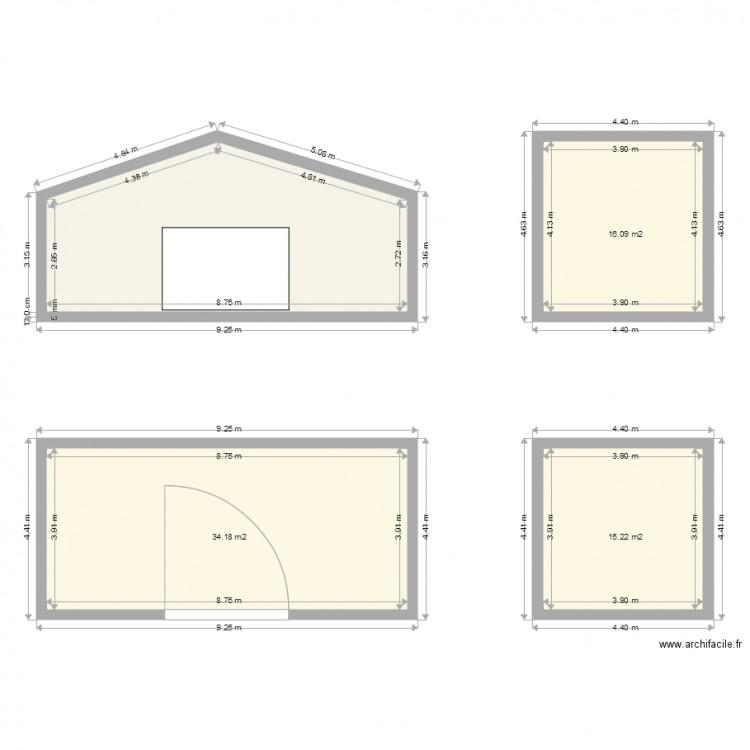 Abri jardin dp4 plan 4 pi ces 102 m2 dessin par mag0723 - Abri jardin grande taille ...