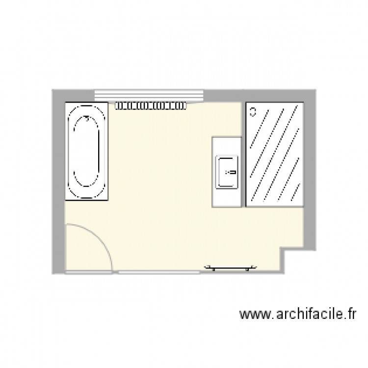 Salle de bain plan 1 pi ce 12 m2 dessin par ncanm1 - Construire un plan de travail ...