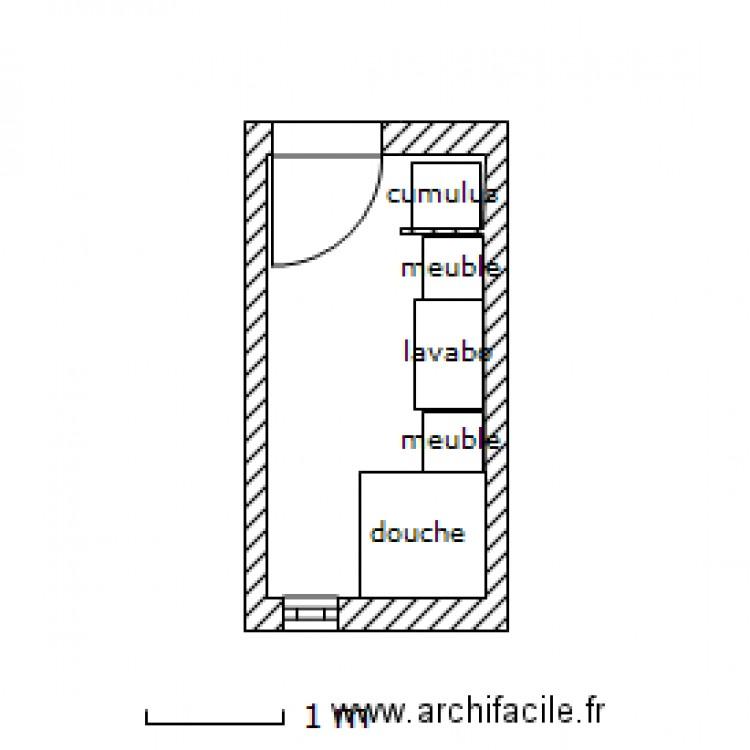 Salle de bain ikea freden plan 1 pi ce 5 m2 dessin par for Salle de bain 7 5 m2