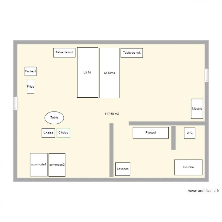 chambre maison de retraite plan 1 pi ce 118 m2 dessin. Black Bedroom Furniture Sets. Home Design Ideas