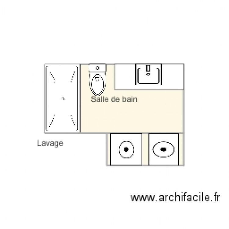 Projet salle de bain plan 2 pi ces 6 m2 dessin par for Salle de bain 2 m2