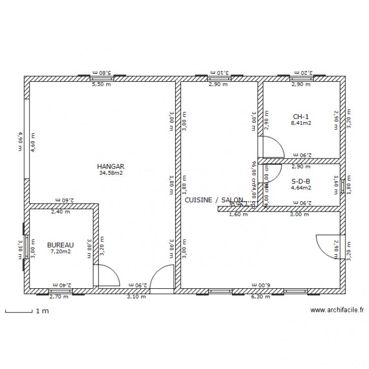 Plan de hangar - Revêtements modernes du toit