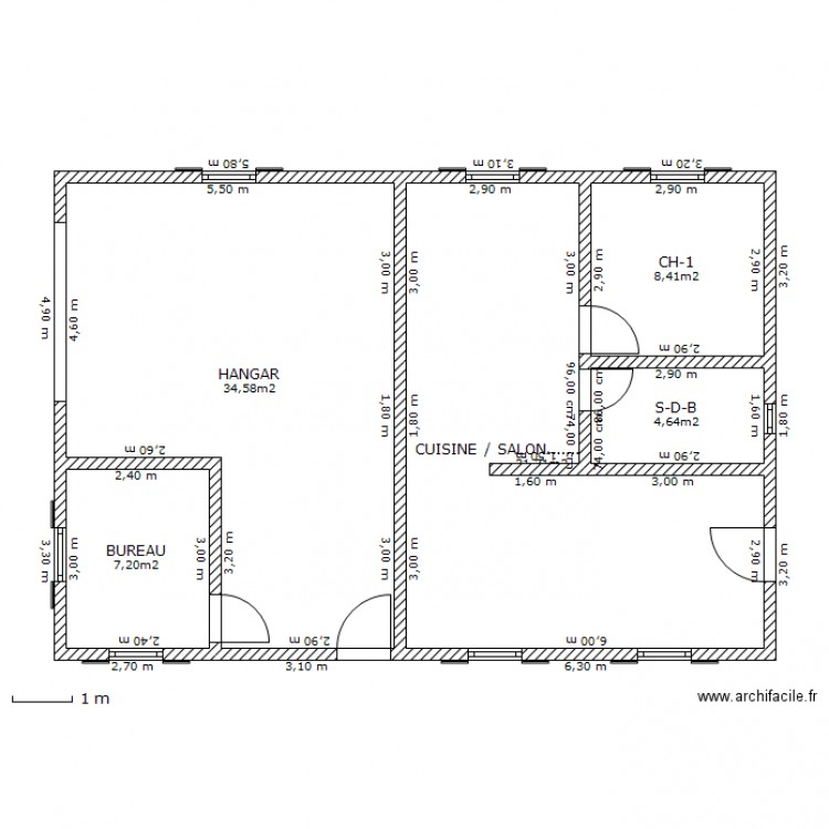 plan de hangar rev tements modernes du toit. Black Bedroom Furniture Sets. Home Design Ideas