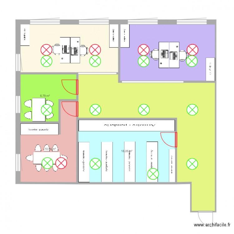 Bureau grenoble plan 6 pi ces 92 m2 dessin par ultrabrice26 - Bureau des hypotheques grenoble ...