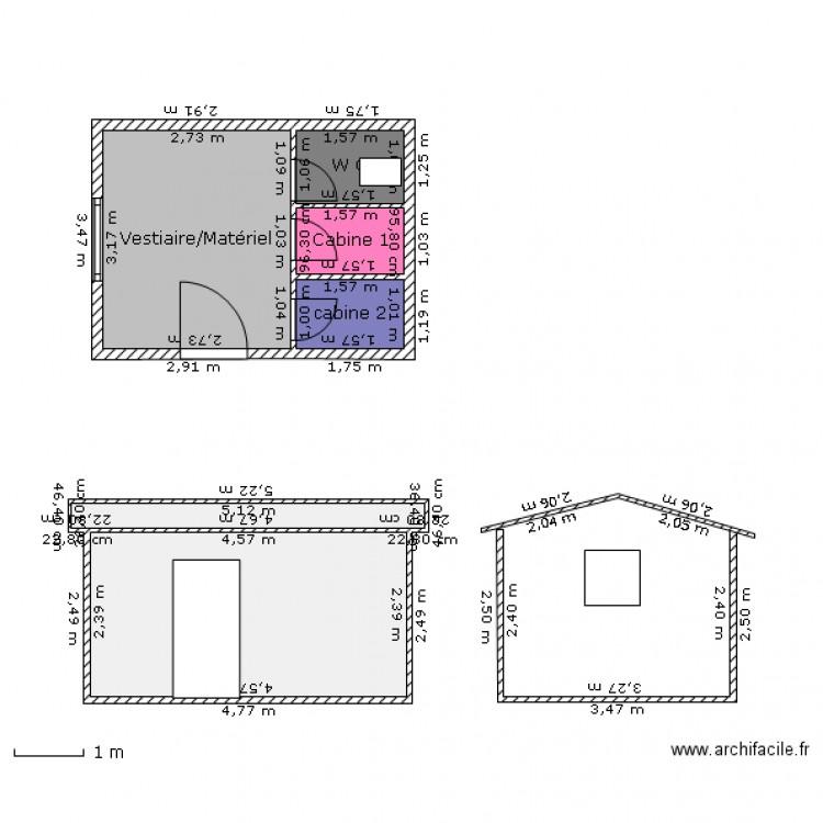 pool house piscine plan 6 pi ces 26 m2 dessin par roanmaju53. Black Bedroom Furniture Sets. Home Design Ideas