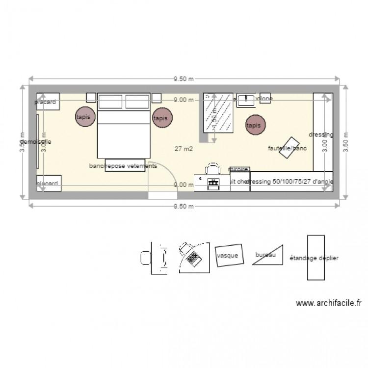 plan suite parentale 30m2 design industriel loft scandinave chambre cuisine idee suite. Black Bedroom Furniture Sets. Home Design Ideas
