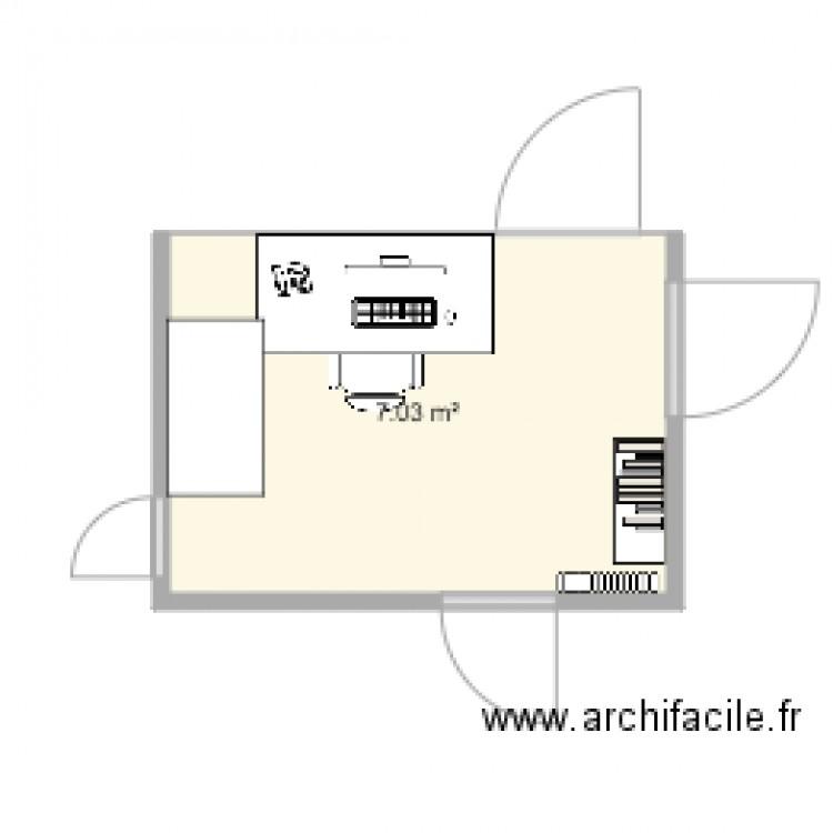 Buro plan 1 pi ce 7 m2 dessin par jack585 for Buro en ligne