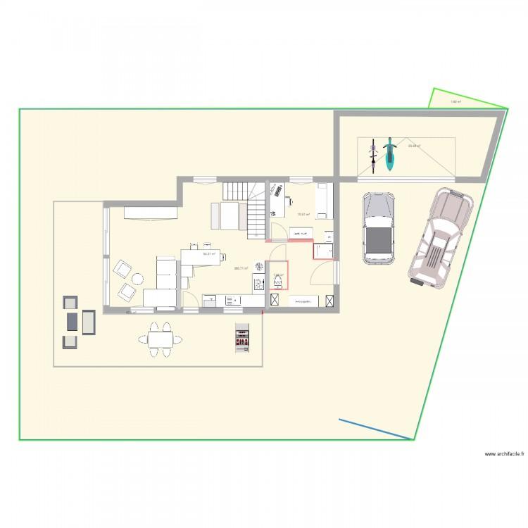Essai camille terrasse plan 15 pi ces 592 m2 dessin par for 592 plan