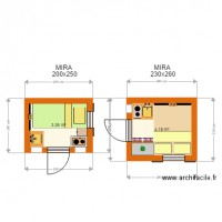 MIRA1 Bungalow  200x250  and 230x260