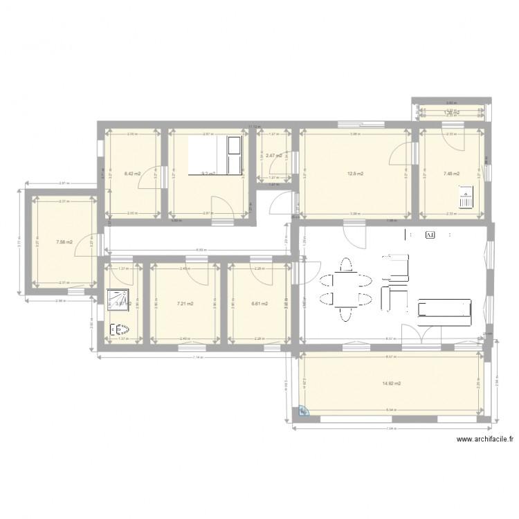 Notre maison plan 11 pi ces 80 m2 dessin par tonygaka - Dessiner plan maison en ligne ...