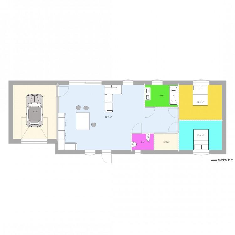 projet de modelisation 3d plan 7 pi ces 108 m2 dessin par huetbenjamin2109. Black Bedroom Furniture Sets. Home Design Ideas