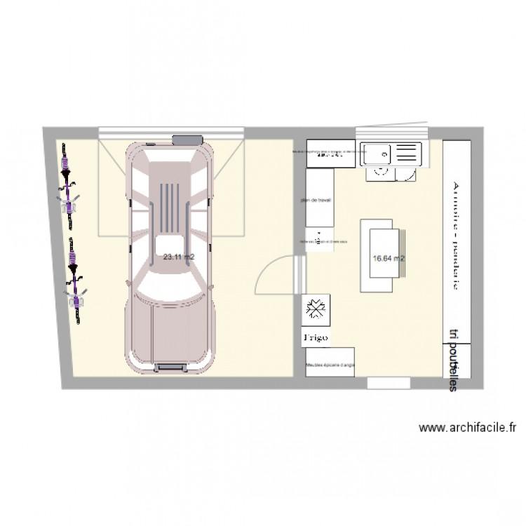 buanderie garage plan 2 pi ces 40 m2 dessin par marilou27. Black Bedroom Furniture Sets. Home Design Ideas