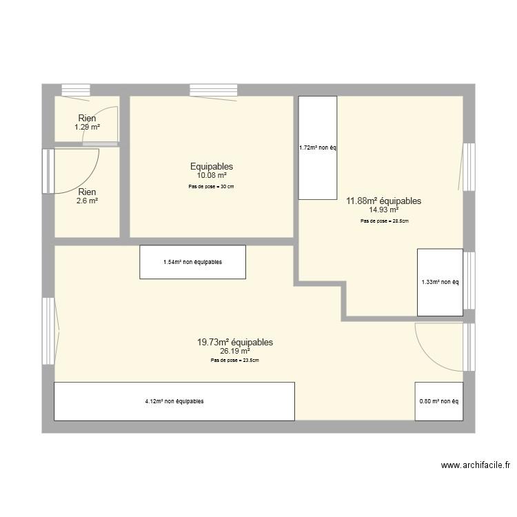plan de calepinage plan 5 pi ces 55 m2 dessin par lordragnar49. Black Bedroom Furniture Sets. Home Design Ideas