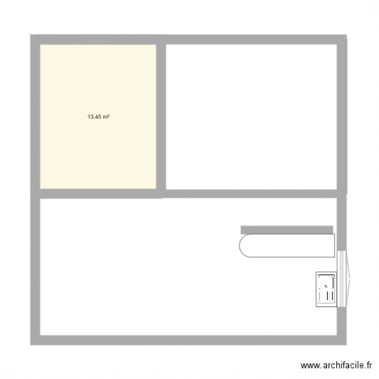 plan maison 2018 plan 1 pi ce 13 m2 dessin par mikl35470. Black Bedroom Furniture Sets. Home Design Ideas