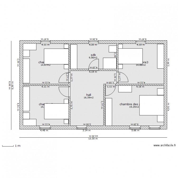 Notre Maison Premier Tage Plan 6 Pi Ces 90 M2 Dessin Par Mickjo