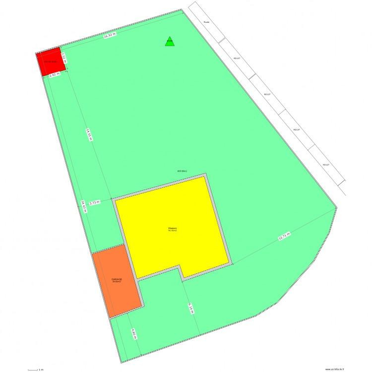 Dp2 plan de masse plan 3 pi ces 723 m2 dessin par tribal2908 - Dessiner un plan de masse ...