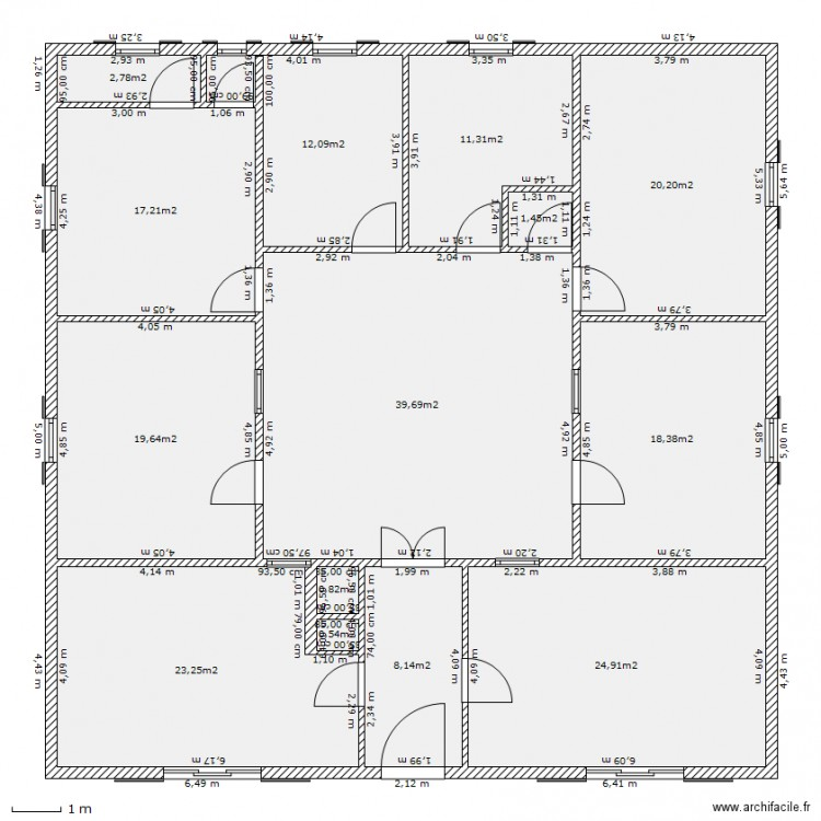 plan maison plan 14 pi ces 200 m2 dessin par lealys47. Black Bedroom Furniture Sets. Home Design Ideas
